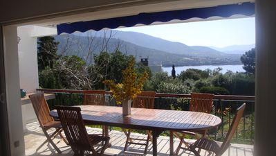 Photo for House sea view 50m from the beach, large garden and 100m from the port, any comfort, Internet ...