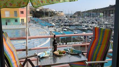 Photo for Front line spacious waterfront marina apartment with panoramic views pool Wi-FI