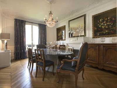 Photo for Luxurious Paris apartment, 7th arr.steps from Eiffel Tower, Air Conditioning