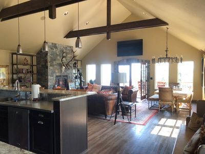 Photo for Gated Private Luxurious Lake View Lodge Sleeps 6 Chefs Kitchen 5 Star Experience