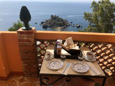 Photo for La bergerie with wonderful Isolabella sea view, free parking, a / c, Wi-Fi