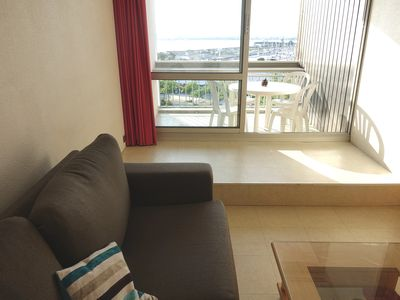 Photo for La Rochelle-Plage Quiet apartment, balcony and sea view