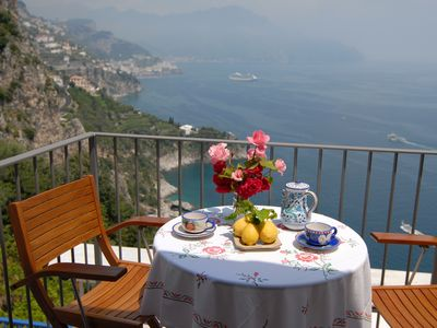 Photo for House with sea view and terrace, beach In the vicinity and amalfi 4 km