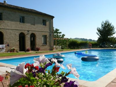 Photo for Beautiful restored villa with pool and magnificent views