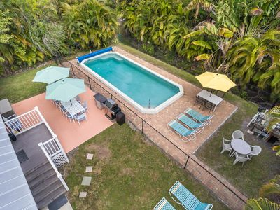 Photo for Sun Villa 6 BR Pet friendly Pool Home right across from the beach