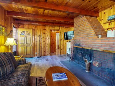 Photo for NEW LISTING! Dog-friendly cabin w/wood fireplace, private hot tub -near lake