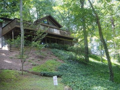 Photo for Peaceful lake and mountain views year round.  Convenient to all Lake Junaluska activities including walking trail .