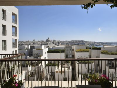 Photo for Seaview Apartment with spectacular Valletta Views