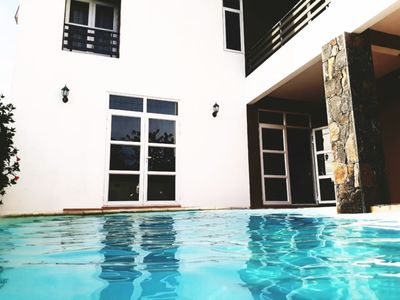 Photo for Twenty Foot Villa Luxuriously quite and designed  Pool villa 4r in Pereybere