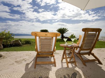 Photo for ON THE BEACH AND SEA-BEAUTIFUL VILLA-24 HOUR SECURITY