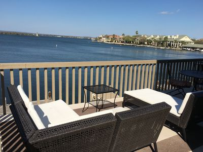 Upper deck patio with open water view!