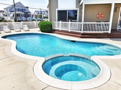 Photo for Stunning Bay Front W/ Private Heated Pool/Spa & 2 Blocks to Beach