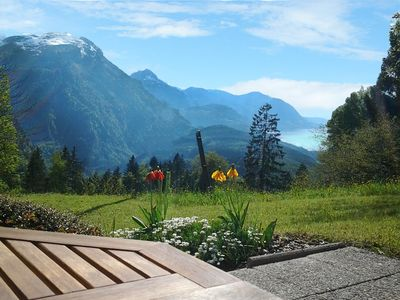 Photo for Fantastic view with garden - Quiet apartment in the mountains
