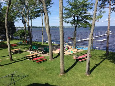 Photo for Beautiful Houghton Lakefront Property - Great Views With 300 Feet of Lakefront!