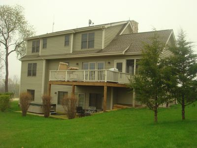Photo for Enjoy 3 floor, 5BR/5BA new house w/Views of Lake, Outside Jacuzzi, Game Room etc