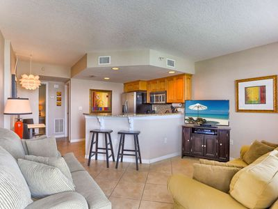 Photo for Marina Views, Balcony, Upscale Kitchen, W/D, Free Cable & WI-Fi, Walk to everything! – 406 Dockside