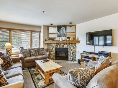 Photo for ski-in/out, steps from trails, private hot tub, wifi!