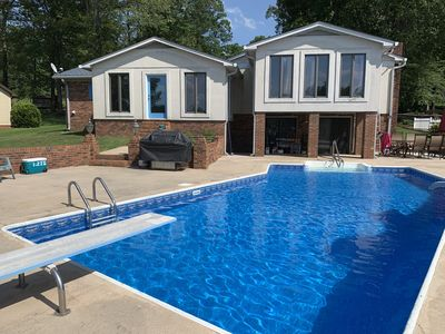 Photo for Waterfront on High Rock Lake! Salt water Pool and so much more