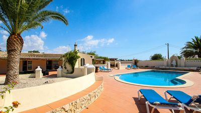 Photo for Absolutely beautiful 5 bed villa, walking distance into town. Private pool, wifi