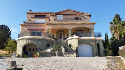 Photo for T3 for 6 people, sea view terrace, swimming pool, 15 min walk to the sea (Villa Lantorine)