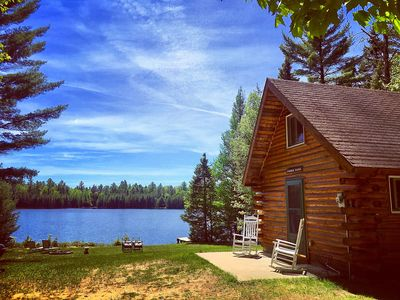 Photo for Log Cabin Rental!  Quiet, Peaceful And Private Lakefront!  Dog Friendly!
