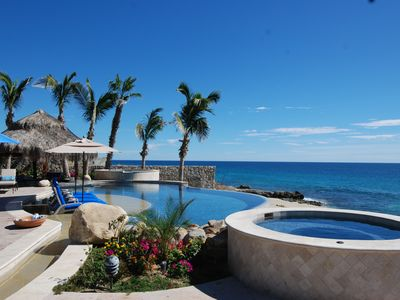 Photo for Luxury 7 Bedroom Beachfront Villa with new 16 person hot tub.