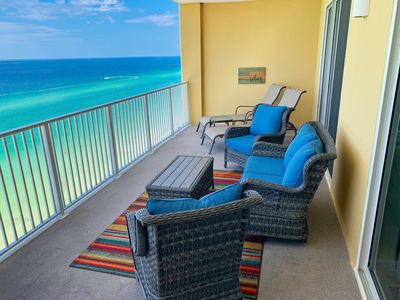 Photo for Tropic Winds Gulf Front 4 BR/4 Bath, 2 Large Balconies & FREE BEACH SVC FOR 4