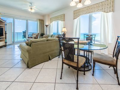 Photo for ☼Grandview East 1405☼ 3BR BeachFront Corner-OPEN July 7 to 10! Gulf Front Pool
