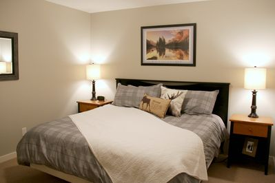 King Bed in the master bedroom with ensuite.