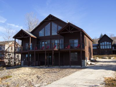 Photo for 2 Miles To Sunday River, Views, 2 Fireplaces, Hot Tub, Game Room,  5 Bedrooms!