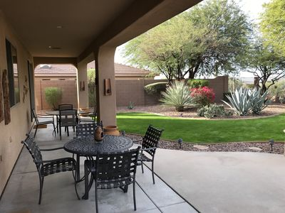 The Gorgeous Covered Patio Has A Sound System And Two Patio Dinettes