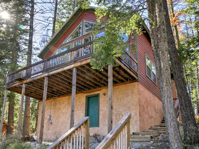 Photo for Cozy Cloudcroft Cabin w/Serene Wooded Views & Deck