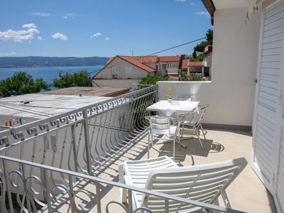 Photo for Studio flat with terrace and sea view Duće (Omiš)