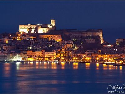 This picture is the view from the House at night. The gaeta castle (thanks to Stefano Viola)