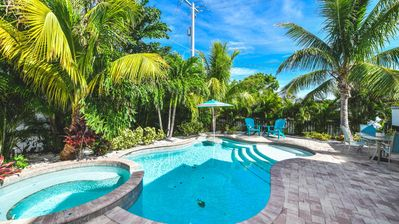Photo for Relax in a Home Close to the Beach, enjoy the private heated Pool & Spa!
