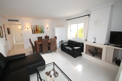 Spacious reception room with sitting & dining areas