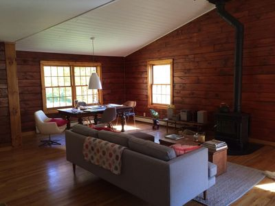 Photo for Charming, Tranquil Catskills Log Home.