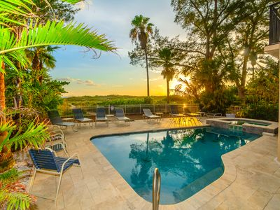 Photo for Beachfront Home with Private Pool - Treasure Island Villa by Beach Time Rentals