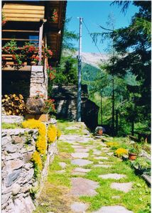 The arrival to the chalets