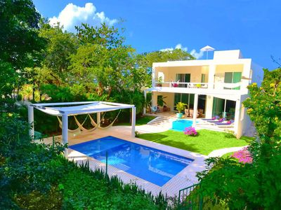 Photo for Luxury Villa, private pool + 2x Jacuzzi, Rooftop, 5600 sq. ft living space