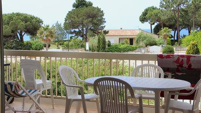 Photo for Studio with separate bedroom. Terrace sea view. Bay of Sagone