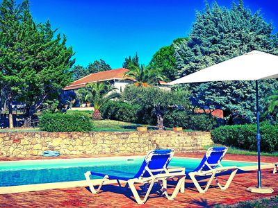 Photo for Villa with private pool and tennis court on the hills of Capo d'Orlando