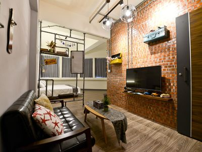 Photo for INDUSTRIAL STYLE double room (near Tainan Train station)
