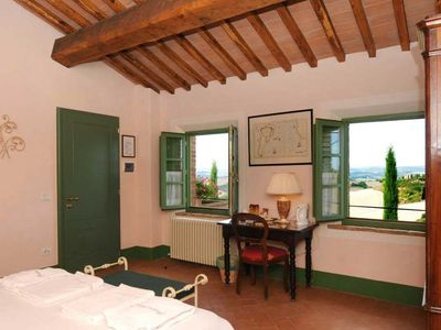 Photo for PODERE SALICOTTO  B&B ROSA Elegant Comfort Double Room with great sunset views