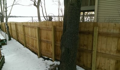 Privacy fence from neighbors