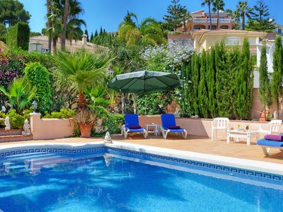 Photo for Gorgeous 3 bed villa peaceful location, walk to beach restaurants bars and shops