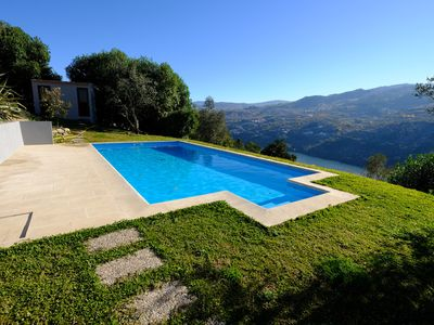 Photo for Douro Valley House with river / mountain view, parking, wifi, swimming pool