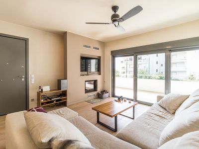 Photo for Luxury 3 Bedroom Apartment with Garden in Glyfada