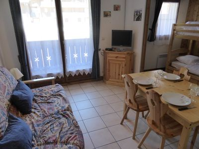 Welcome to our cozy studio apartment in Les Contamines Montjoie!