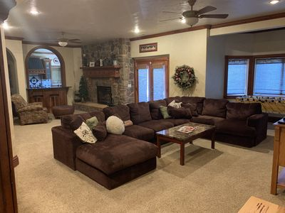 Photo for Spacious Large Suite, Full Kitchen and Theater only 10 Minutes from BYU and UVU